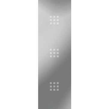 Sandstrahlverglasung 3 x 9