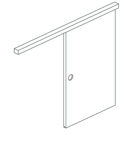 Butoir de porte coulissante /à gauche